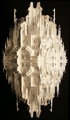 """Reflection on Sagrada Familia"" (Ingrid Siliakus) Tags: houses sculpture white abstract holland ingrid water dutch amsterdam architecture paper paperart fire three canal blackwhite 3d artist cut architect rings cardboard elements cube cutting kirigami fold 2008 papier wit paperfolding folding biennial figurative symbolic architectuur kunstenaar karton dimensional drie papersculpture threedimensional unfolding canalhouses geometrisch vouwen origamic origamicarchitecture vouw papercutting snijden dutchartist figuratief rijwijk papierkunst abstractartaward paperarchitecture paperartist siliakus dimensionaal snij papierarchitectuur dutchpaperartist papierarchitecture papierkunstenaar papierarchitect paperarchitect museumrijswijk"