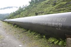 The pipeline (E+Co) Tags: nepal waterfall energy village suspensionbridge powerhouse solarpower hydropower penstock catchment lamjung villagescenic