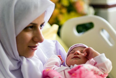 And A New Story Started ... (Hamed Saber) Tags: pink baby girl scarf happy birth daughter mother chick motherhood delaram somayeh  persianprincess  hispotal coraznenpaz