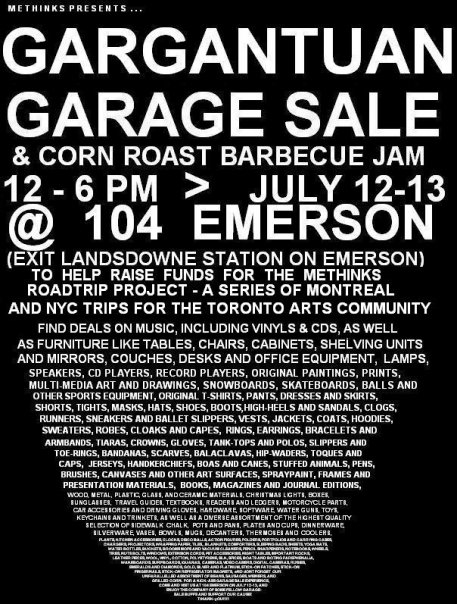 Methinks Garage Sale