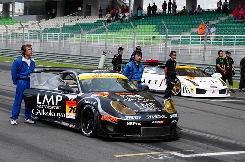 National anthem playing (Nikon 18-200mm VR sample photos taken at the Super GT 2008 race, Sepang)