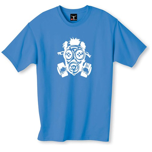 SCT Gass Mask T-shirt Blue