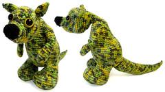 bunyip (Jellibat) Tags: green animal crochet australian australia yarn amigurumi yeti myth mythological cryptid bunyip jellibat creatire kangarooo
