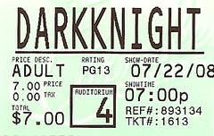 The Dark Knight ticket stub