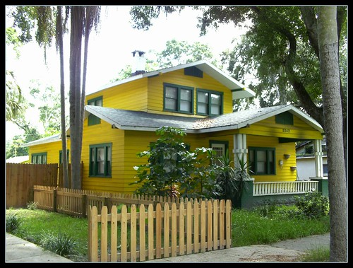 hot, yellow airplane bungalow