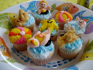 Water Babies cupcakes from Beaucoup Cupcakes