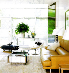 via this is glam (coco+kelley) Tags: white green yellow modern design bright interior room fresh livingroom decor