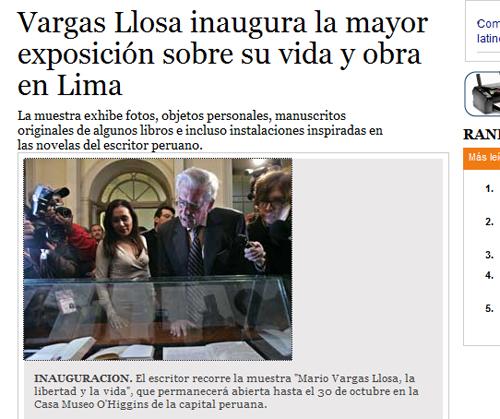 Vargas Llosa Clarin