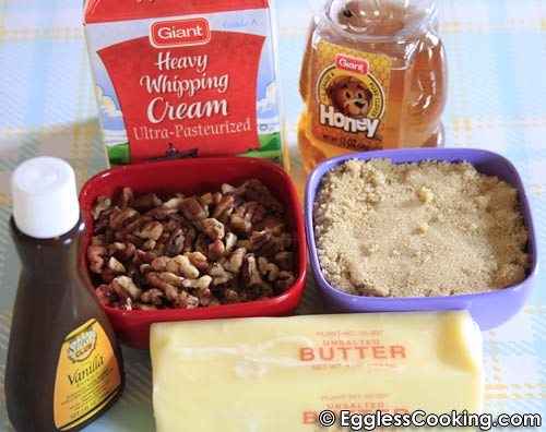Eggless Pecan Bars Filling Ingredients