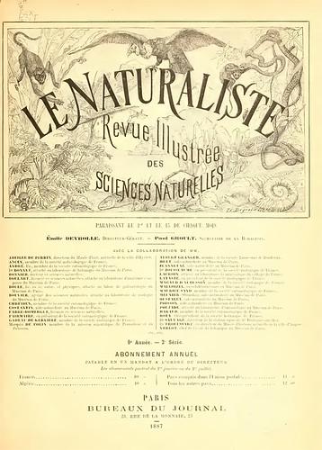 Le Naturaliste : journal des échanges et des nouvelles