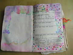 Wreck this journal day 35... Working through book (kittypinkstars) Tags: this journal smith keri wreck