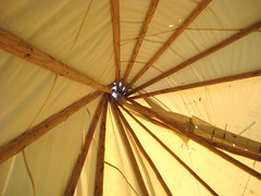 cherry wood teepee