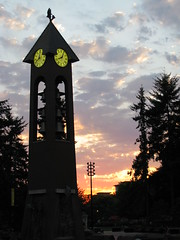 Salmon Run Bell Tower in Esther Short Park