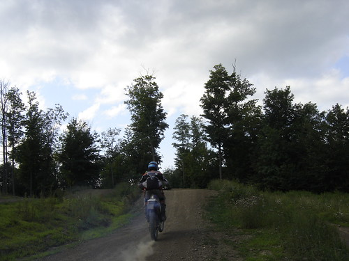 ktm 300 approaching a jump