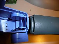 リンクシス(Linksys)社の ケーブル・モデム「BEFCMU10」の接合部(カギ爪)