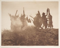 Dancing to Restore an Eclipsed Moon - Qagychl (Smithsonian Institution) Tags: sepia dance ceremony nativeamerican ritual tradition dust americanindian smithsonianinstitution cermony smithsonianinstitutionlibraries edwardcurtis edwardscurtis cermonialdance edwardscurtis18681952
