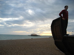 Tantek turns his back on the West Pier