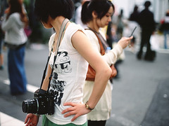 atsuko67 ( Sean Marc Lee ) Tags: camera friends woman 120 mamiya film girl japan analog mediumformat 645 arms pentax velvia 50 2008 67 shimokitazawa slender atsuko rvp at5 seanmarclee