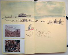 The beach (Wil Freeborn) Tags: travel moleskine brighton journal 08 fotb flashonthebeach fotb08