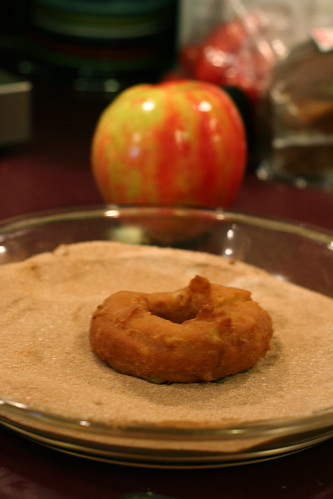 Cinnamon Sugaring Apple Donuts