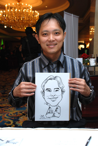Caricature live sketching for Great Eastern Life D&D 2008 8