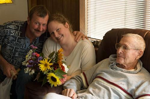 Lon, Prairie and Grandpa Don