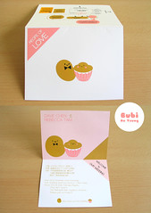Wedding card design for my friends (Bubi Au Yeung) Tags: pink wedding food love cake dave golden bean invitation card gift portfolio myfriends weddingcard recipeoflove congrattodowandrebecca