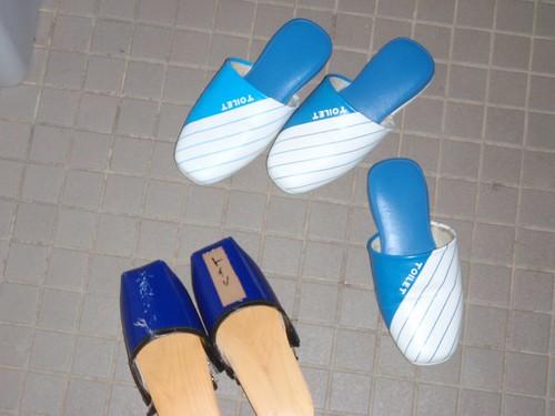 Zapatillas del aseo