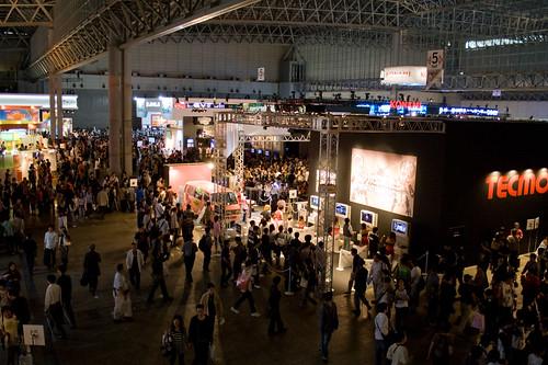 Vue en hauteur du Tokyo Game Show