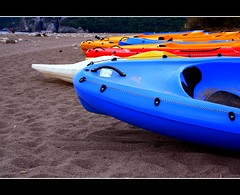 The colors of sea-kayaking (canmom ( Carrie )) Tags: sea holiday color beach sports colors sport turkey kayak bright extreme trkiye vivid antalya kayaking canoneos350d olympos cubism tatil olimpos cirali ral canonefs1855mmf3556 abigfave theperfectphotographer turkiyeturchia