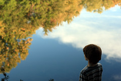 No Such Thing As Time (~Kerry Murphy) Tags: trees sky lake reflection water clouds wonder boychild