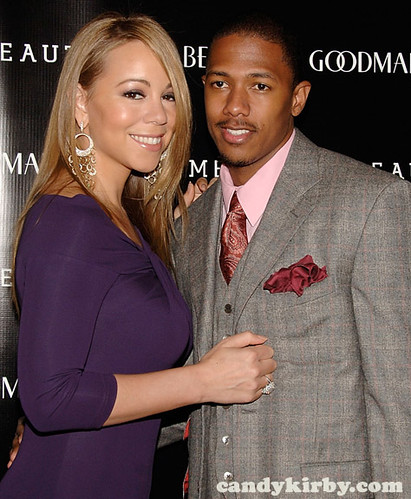 Mariah Carey and Nick Cannon at the launch of Le Metier De BeauteCosmetics in NYC