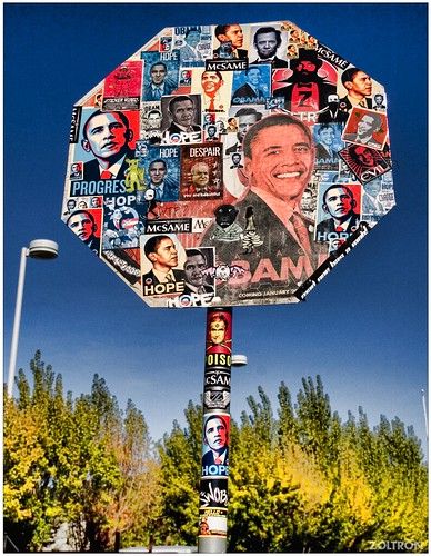 Obama Stop Sign from Voltron on Flickr