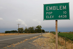 Big City (Martin Third) Tags: road usa sign america emblem town