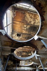 This is what you'll get (David Tenebre) Tags: california ca urban abandoned ink berkeley us condemned industrial factory decay ruin holes ceiling flint flintink