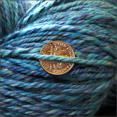 Deep Blue Sea yarn, close up