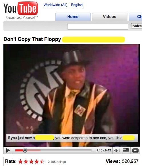 Video Annotations on YouTube - Don't Copy That Floppy (HIGH QUALITY version!)