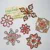 Kirigami Snowflakes Magnets