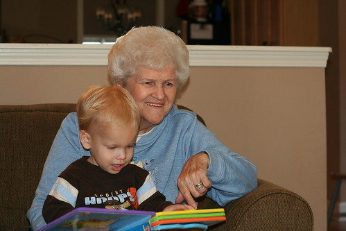Memaw reading to Eli
