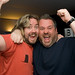 Justin Lee Collins with Chris Moyles