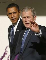 President Bush and Re-elect president Barack Obama (Haneybabe) Tags: party america dc washington bush united president politics states republican obama democratic barack