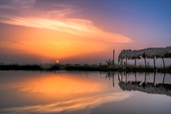 Siwa's nature (KoRaYeM) Tags: sunset cloud sun lake postprocessed reflection nature colors clouds sunrise reflections geotagged island desert horizon egypt hdr lightroom siwa waterscape postprocessing lakescape 3xp photomatix flickrexplore taghaghien geo:lon=25468025 taghagheen geo:lat=2922462