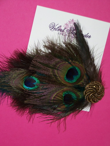 Feather Hair Accessory by Velvet Surrender Designs