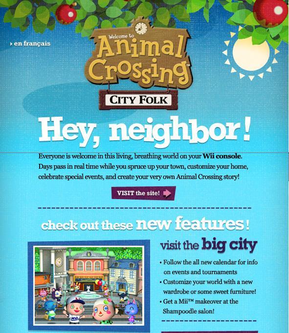 Animal Crossing: City Folk – Email