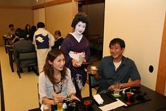 Kyoto Cuisine and Maiko Evening (maikohaaan) Tags: show japan dinner kyoto event maiko geiko geisha ryokan kimono gion imperialpalace kinkakuji kiyomizu kiyomizutemple hatanaka hanamachi tawaraya ozashiki yasakajinjya