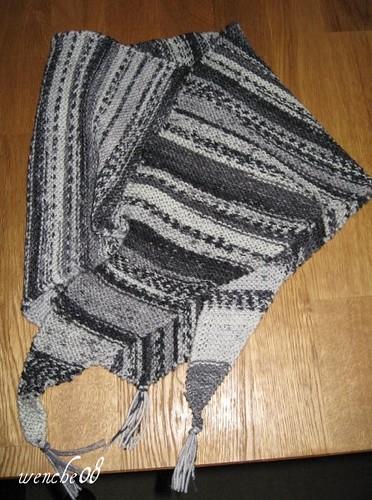 svart/hvit Baktussjal