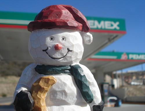 Pemex Snowman service station