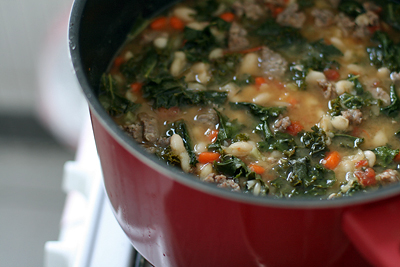 Tuscan Bean Stew with Sausage and Kale