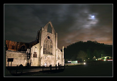 Abbey after dark (Roger.C) Tags: sky moon church abbey wales night clouds canon dark sigma wfc tintern