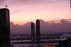 View from my apartment (SHAH BABA) Tags: pakistan sunset sea clouds lights dubai sony uae peshawar r1 islamabad shahbaba